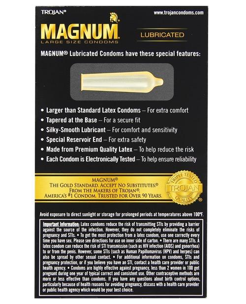 Trojan Magnum Condoms - Box of 12 - Justerotics